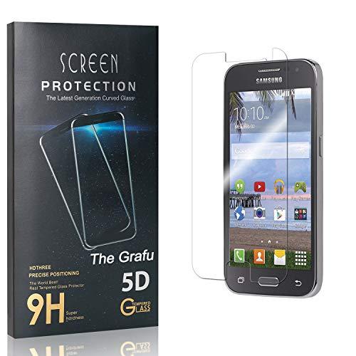 The Grafu Screen Protector for Galaxy Core Prime, Anti Fingerprint, 99.99% High Clarity, 9H Bubble Free Tempered Glass Screen Protector for Samsung Galaxy Core Prime, 3 Pack