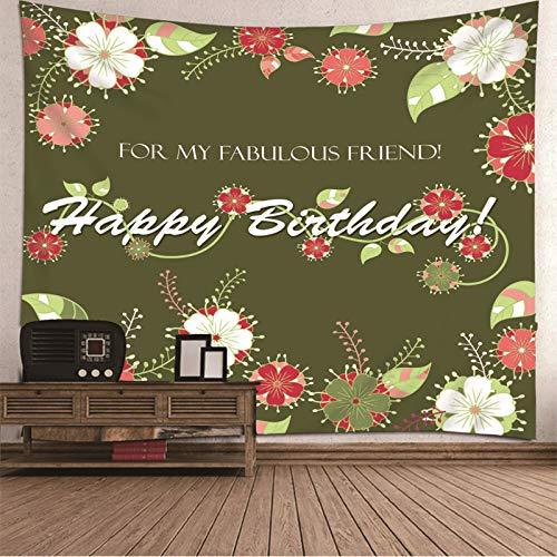 Tapiz para colgar en la pared, colcha para pared, diseño de flores para el dormitorio, 137 x 100 pulgadas