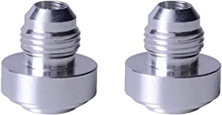 2 Pcs Aluminum Male Weld On Fitting Bung Hose Adapter Fuel Oil (AN6)