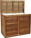 Nila Medium Sized Double Teak Laundry & Storage Hamper