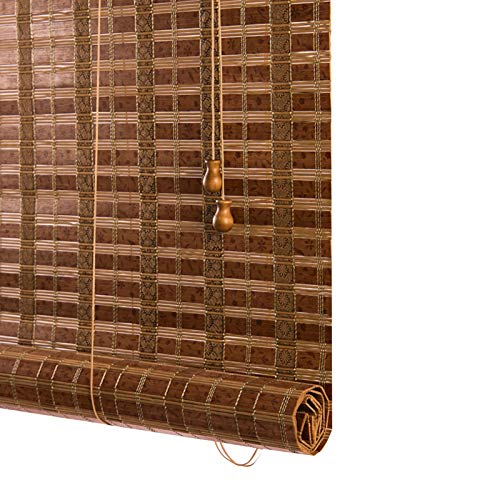 QIANDA Bambusrollo Raffrollo, Wasserdicht Rollo Rollo Raumverdunkelung Wärmeisoliert UV-Schutz zum Terrasse Veranda Abgeschnitten, 2 Farben (Color : A, Size : 135x175cm)