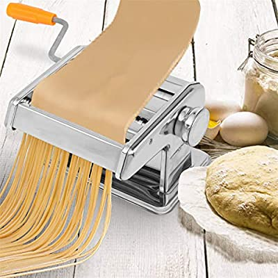 YUN JIN Sturdy Stainless Steel Pasta Maker,6 Th...