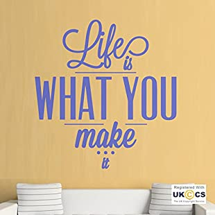 Life What Make It Gym Office Inspiration Wall Art Stickers Decals Vinyl Home Roo Bedroom Boys Girls Kids Adults Home Livingroom Quotes Kitchen Bathroom Accessories Mural:Interoot