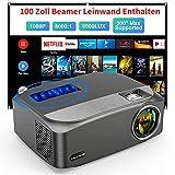"Beamer 8500 Lumens, VILINICE Native 1080P Beamer Full HD, Unterstützt 4k LED Outdoor Beamer Heimkino 300"" Beamer Kompatibel mit HDMI USB TV Stick Xbox Laptop, Smartphone Projektor für Heimkino"