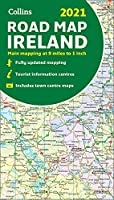 Map of Ireland 2021: Folded Road Map (Collins Road Atlas)