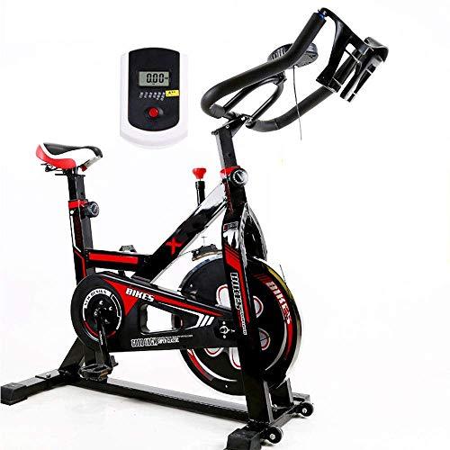 Worth having - Bicicleta de ejercicio de giro para entrenador de ciclismo con asiento y correa ajustables, con estante de cronómetro y hervidor de agua, para entrenamiento de cardio en casa, 175 kg de