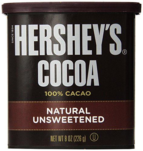 Hershey\'s Cocoa, Unsweetened, 8-Ounce Container (Pack of 2)