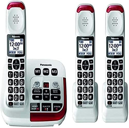 Panasonic KX-TGM420W Amplified Cordless Phone (3 Handsets)