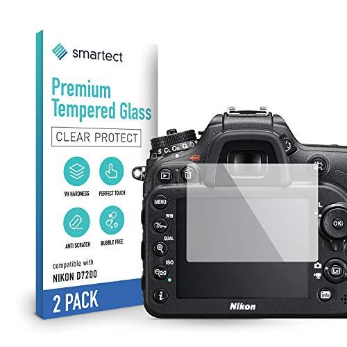smartect Cristal Templado para Móvil Nikon D7200 / D7100 [2 Unidades] - Protector de pantalla 9H - Diseño ultrafino - Instalación sin burbujas - Anti-huella