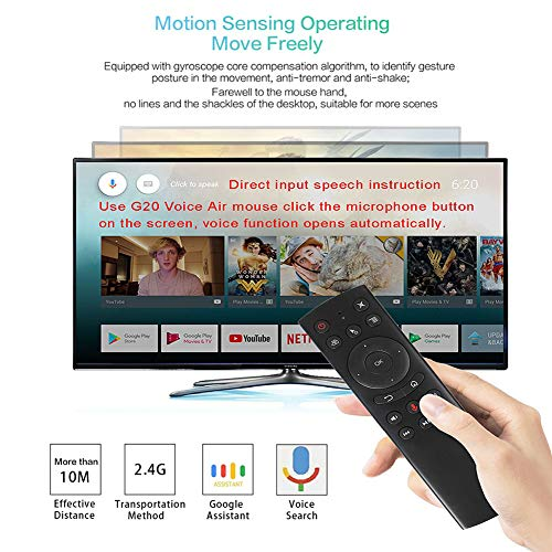 WeChip G20 Remote Control 2.4G Wireless Voice Control Sensing Air Remote Mouse for Nvidia Shield Remote Replacement PC Android TV Box