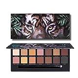 Sombra de ojos 14 Colores De Sombra De Ojos Paleta De Tigre Natural Matte Sombra De Ojos Del Maquillaje Del Brillo Desnuda Animal Pallete Cosméticos De Alta Pigmento ( Color : Tiger palette )
