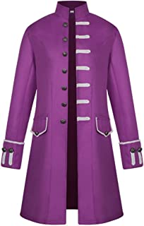 Uomo Cappotto Lungo Steampunk Giacca vittoriana Tailcoat Gotico Costume Vintage Caldo Cappotto con Colletto Dritto Stile S...