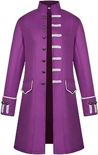 Men's Jackets Men's Steampunk Coats Punk Retro Long Jacket 2020 Autumn Winter Single Breasted Medieval Costume Cosplay Uni...