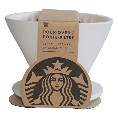 Starbucks filtro de taza de café blanco Royal blanco para filtro de café sobre cerámica