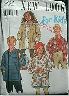 BOYS AND GIRLS LIGHT JACKET SIZES 6-7-8-9-10-11 SIMPLICITY NEW LOOK FOR KIDS SEWING PATTERN 6401