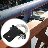 ガーデンガーデン ラティスや木製フェンスをパイプフェンスに固定する金具 上部用 1個 ネジ付 ブラック LV-KT35