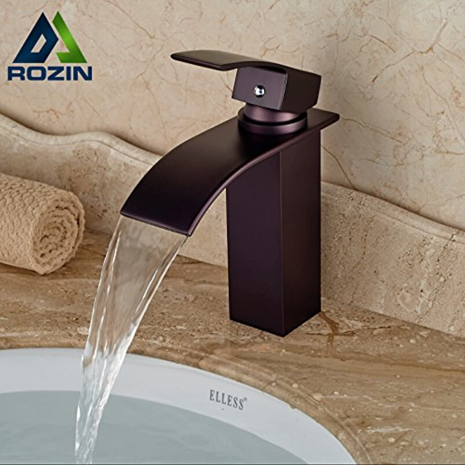 Tourmeler Good Quality Oil Rubbed Bronze Bathroom Sink Vanity Mixer Faucet Waterfall Basin Water Taps Free Shipping