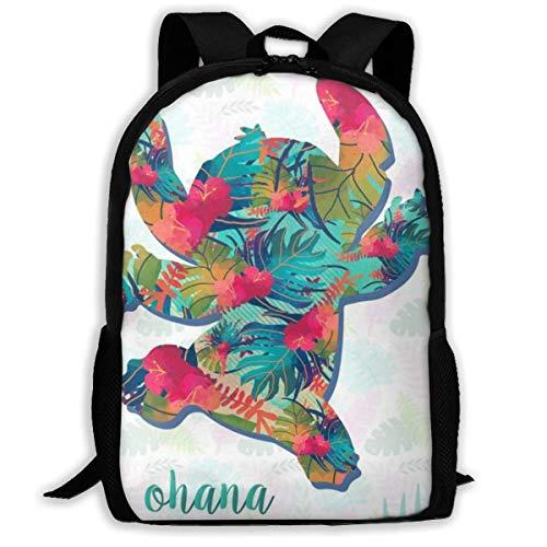 wobuzhidaoshamingzi Mochila Casual Summer Stitch Print Zipper School Bag Travel Daypack Backpack-51-9E