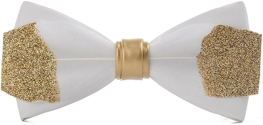 Ranking TOP20 Men's Bow tie Unique Natural Cravat Wedding Pr gift Handmade Feathers