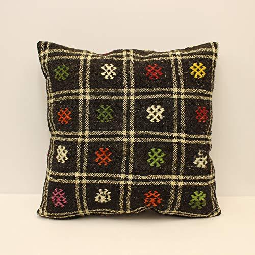 home living,16x16,home decor,decorative pillow,kilim pillow,vintage,bohemian pillow,turkish,handwoven pillow,throw pillow,accent pillow
