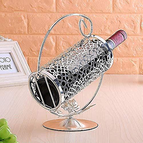 ZKAIAI retro Moderno Estilo vino del vino del hierro forjado estante de plata europea en rack accesorios for el hogar nórdicos que viven pantalla gabinete del vino cocina escritorio de interior acumul
