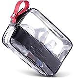 Saint Maniero Kulturbeutel transparent I Handgepäck Flüssigkeiten I 1 Liter Beutel Flugzeug Kulturtasche durchsichtig Transparente Tasche I Kulturbeutel durchsichtig Waschbeutel durchsichtig (Schwarz) - 2