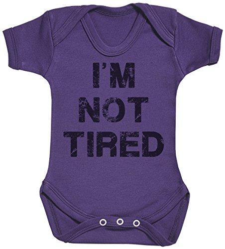 Baby Buddha I'm Not Tired Body bébé - Gilet bébé - Body bébé Ensemble-Cadeau - Naissance Violet