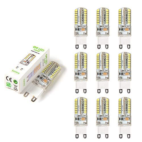Lampadine a LED Sorgente G9, confezione da 10 lampadine a LED, lampadine alogene AC220V, sostituzione 3W per 30 W, 210-240 LM, bianco, angolo di apertura a 360 ° [Classe energetica A +]