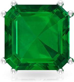 4.2 Ct Lab Created Emerald Stud Earring, Bridesmaid Wedding Earring, Asscher Shape Birthstone Earring, Bridal Statement Earring, Anniversary Earring, Screw Back