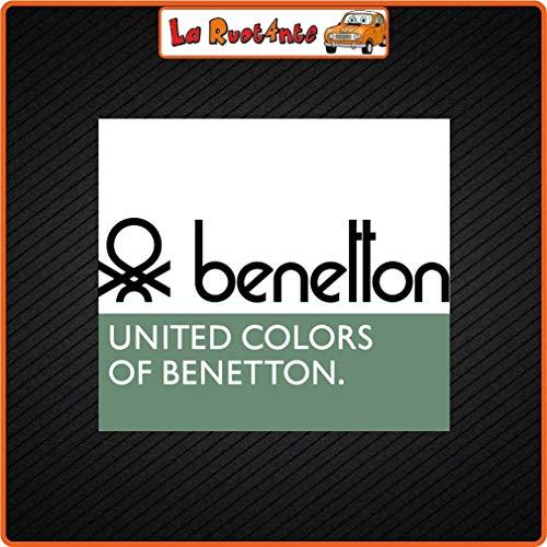 La Ruotante 2 Stickers Benetton (Vinyl) Auto Motorfiets Vespa Fiets Helm Jas Link Schoenen 10X9 Cm