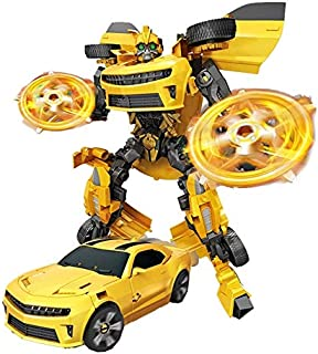 Transformation Robot Car Truck Deformation Puzzle Educational Toy for Kids, Yellow