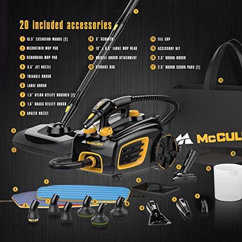 McCulloch MC1375 Canister Steam Cleaner Product Image
