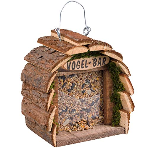 Gardigo Vogelfutterhaus aus FSC Holz I Vogelhaus zum Aufhängen I Futterhaus für Vögel I Vogelfutterspender für Balkon und Garten