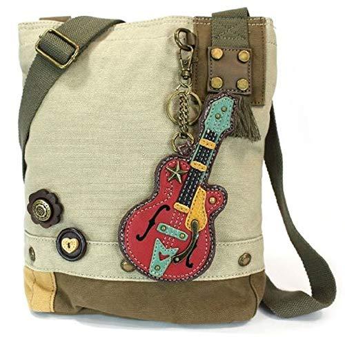 Chala Gitarren-Patch-Crossbody-Tasche, Sand