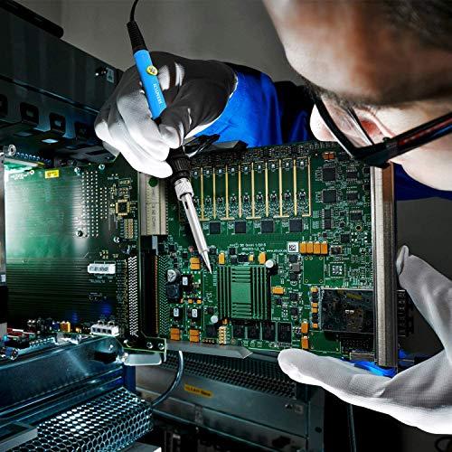 Fer à Souder Kit, SREMTCH 60W Kit de Soudage Électrique de Précision avec Interrupteur On/Off, Temperature Réglable 200~450℃, Support avec éponge, 5 Pointe Soudage, Pompe à Dessouder, Fil de Soudure