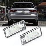 Ceepko 2 X LED Feu éclaireur De Plaque pour Audi A3 8P A4 B6 B7 A6 A8 Q7 Feu éclaireur De Plaque