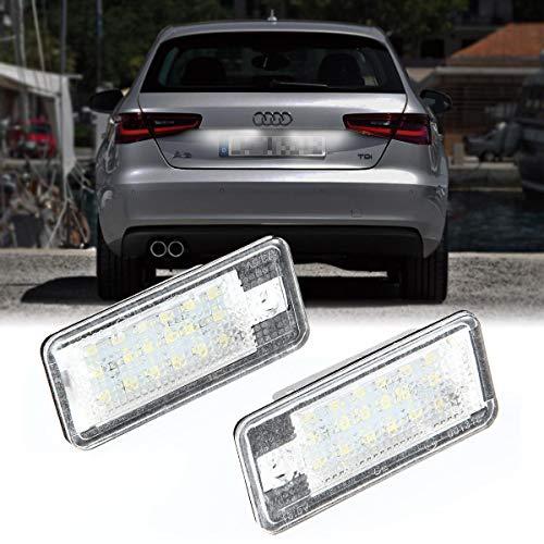 Ceepko 2 X LED Kennzeichenbeleuchtung Für Audi A3 8P A4 B6 B7 A6 A8 Q7 Kennzeichenleuchte Nummernschild Licht
