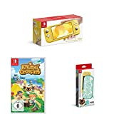 Nintendo Switch Lite, Standard, Gelb + Animal Crossing: New Horizons + Nintendo Switch Lite Schutzhülle - Animal Crossing: New Horizon-Edition