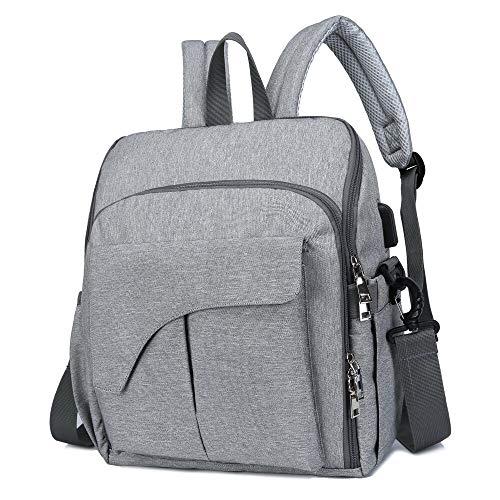 3 in 1 Wickeltasche Rucksack mit Tragetasche für unterwegs | Unisex-Design | Baby-Dusche-Geschenk | Multifunktions-Babytrage-Wickeltasche