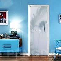 ZWYCEX ドアステッカー 3D壁紙リノベーション休職ツリーの自己接着DIY PVCステッカードア防水ホームデコレーションベッドルームデカールは、アートの画像を印刷します (Sticker Size : 95x215cm)