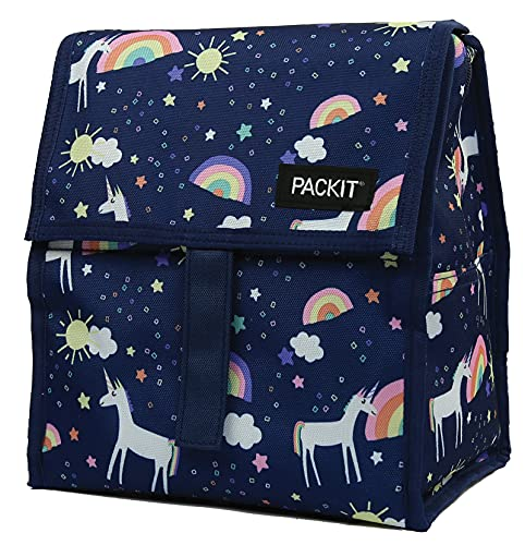 PackIt Lunch Bag Bolso portalimentos congelable, Adultos Unisex, Unicorn Sky, 6 L