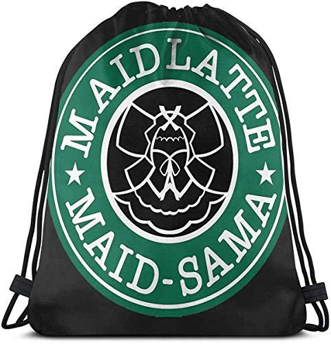 OPLKJ Maid-Sama! Kaffee Kordelzug Rucksack String Bag Sackpack Cinch Bag für Sport Yoga Gym Wandern Travel Beach