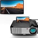 5000 Lumens Projector,1080P Native LED Projector Full HD, 4K Support, 15000:1 Home Theater Projector 50'-200' Display, with HDMI USB VGA AV, Compatible TV Box PC Cell Phone Xbox PS4