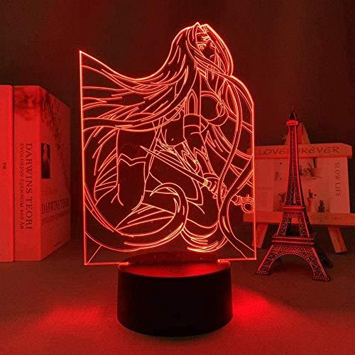 3D Anime ilusión nocturna – Lámpara de noche LED con personaje anime – Con mando a distancia – 7 colores – Decoración de dormitorio lámpara de mesa – Niños Navidad cumpleaños Festival regalos