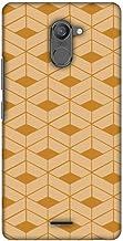 AMZER Slim Designer Snap On Hard Case Back Cover for Infinix Hot 4 Pro - Carbon Fibre Redux Desert Sand 9