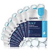 MEDIHEAL Official [Korea's No 1 Sheet Mask] - N.M.F Intensive Hydrating Mask (10 Masks) | Highly Moisturizing Korean Skincare, Treat Dull, Dry, Dimish Acne, Improves Skin Barrier|