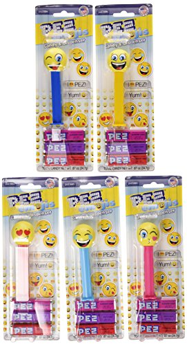 PEZ Candy Candy Candy Emojis Assorted Candy Dispensers, 0.87 Oz (Pack Of 12)