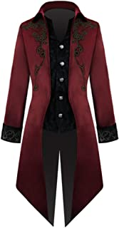 mens red steampunk jacket
