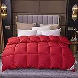 Goodlife-1 Bettdecke 4 Jahreszeiten 95% weiße Gänsedaunendecke Anti Allergie Einzelbett Winterbett Einzelbett/Doppelbett-200x230cm - 2.5kg_F.