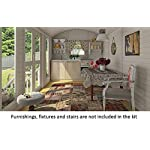 Allwood Mayflower Base   117 SQF Garden House, Cabin Kit 15 Unique style. Focal point of any garden. Total floor area 117 SQF Structures on wheels are except from permits in most states